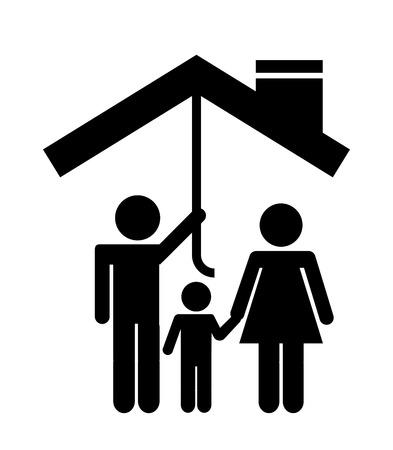 La tutela del design famiglia, illustrazione grafica vettoriale eps10 Archivio Fotografico - 37568342