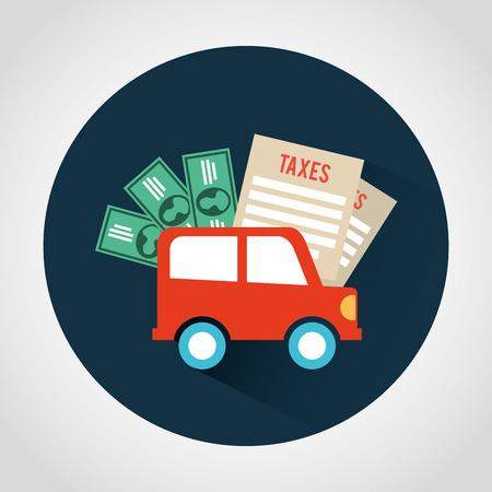 car bills: taxes icon design, vector illustration eps10 graphic