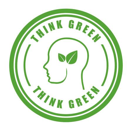 pensar en el diseño verde, ilustración vectorial gráfico eps10