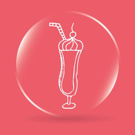 milk shake: milk shake design, vector illustration eps10 graphic