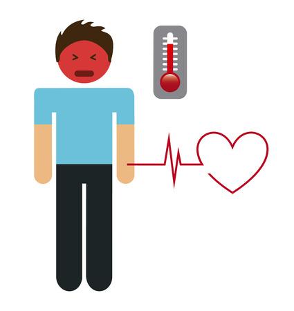 termometer: health care design, vector illustration eps10 graphic Illustration