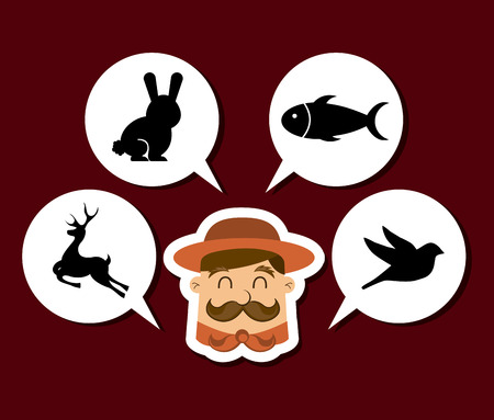 hunting zone design, vector illustration eps10 graphic Vector