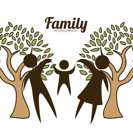 Conception de l'amour de la famille, vecteur illustration graphique eps10 Banque d'images - 37553495