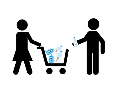 woman drinking milk: milk product design, vector illustration eps10 graphic