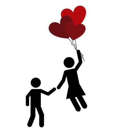 couple in love: love card design, vector illustration eps10 graphic Illustration