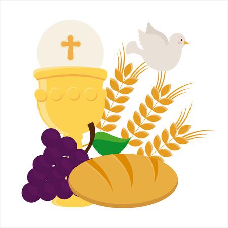 holy leaves: catholic religion design, vector illustration eps10 graphic