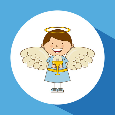 catholic angel: catholic religion design, vector illustration eps10 graphic