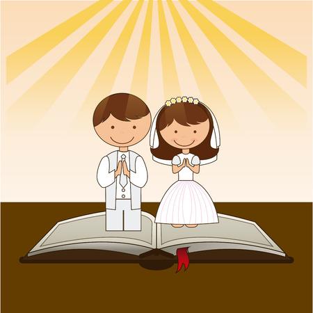 가톨릭 종교 디자인, 벡터 일러스트 레이 션 eps10 그래픽