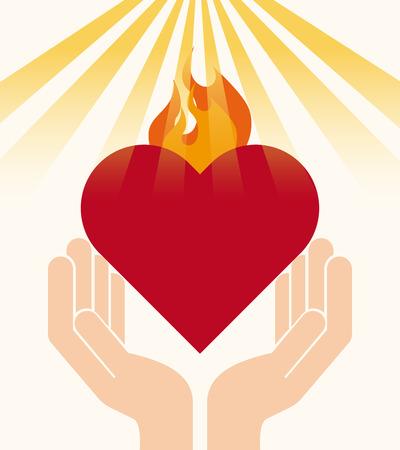 가톨릭, 종교, 디자인, 벡터 일러스트 레이 션 EPS10 그래픽
