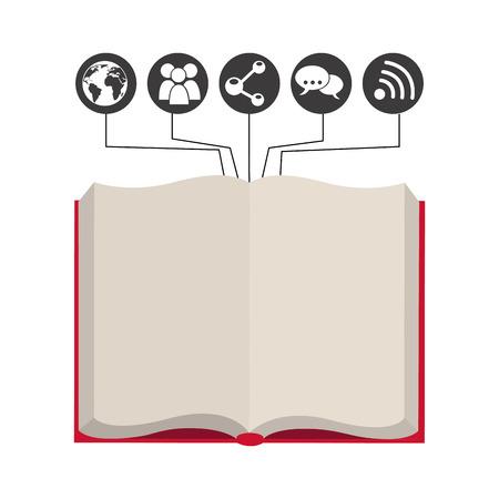 e magazine: e-book design, vector illustration eps10 graphic Illustration