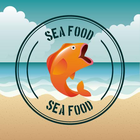sea food design, vector illustration eps10 graphic Vector