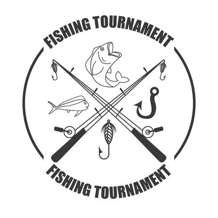 fishing tournament design, vector illustration eps10 graphic Vector
