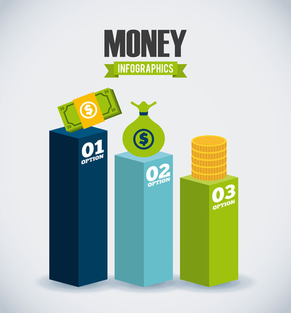 dollar bag: money infographics design, vector illustration eps10 graphic