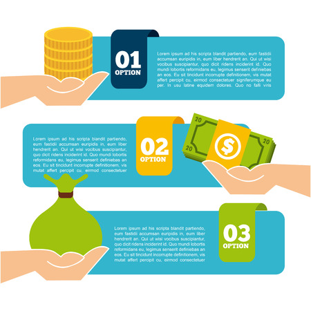 money in the hand: money infographics design, vector illustration eps10 graphic