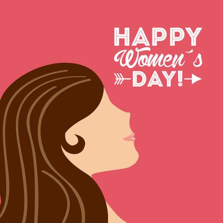 Femmes heureux conception de jour, vecteur illustration graphique eps10 Banque d'images - 37640374