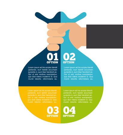 Geld Infografiken Design, Vector Illustration eps10 Grafik Standard-Bild - 37640560