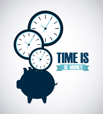 on time: money infographics design, vector illustration eps10 graphic