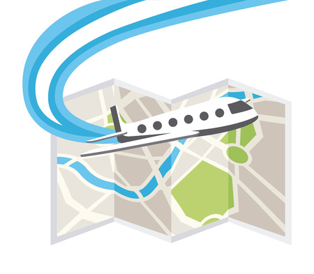 airplane world: travel concept design, vector illustration graphic