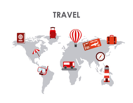 buss: travel concept design, vector illustration eps10 graphic