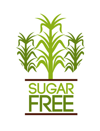 sugar free design, vector illustration graphic