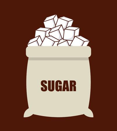 Zucker Produkt-Design, Vektor-Illustration Grafiken