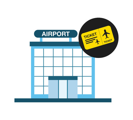airfield: airport terminal design, vector illustration eps10 graphic