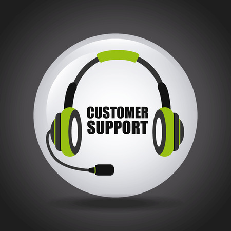 telephonic: costumer support design, vector illustration graphic