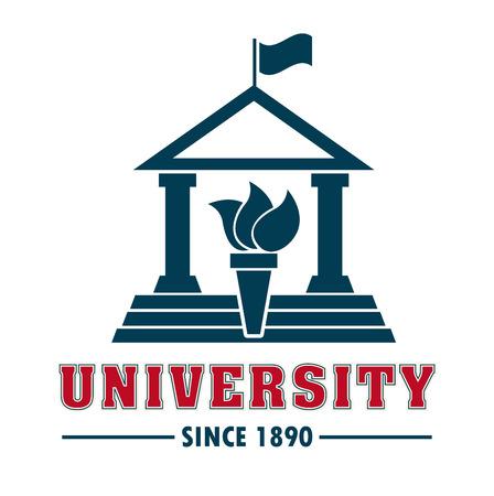 university campus: university campus design, vector illustration graphic