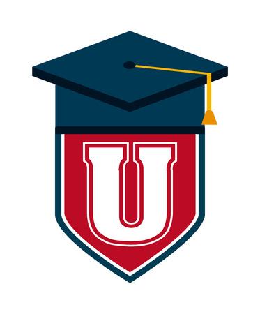 university campus: university campus design, vector illustration eps10 graphic