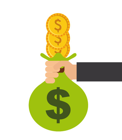 money concept design, vector illustration graphic Illusztráció