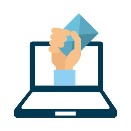 mail: mail concept design, vector illustration graphic Illustration