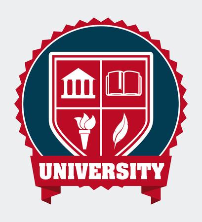 campus: university campus design, vector illustration graphic