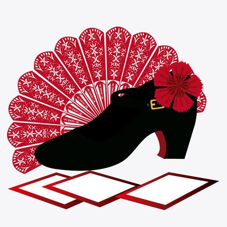 cultural and ethnic clothing: Gipsy design over white background, vector illustration. Illustration