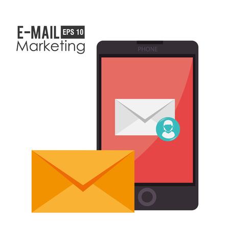 email marketing: Email marketing design, vector illustration.