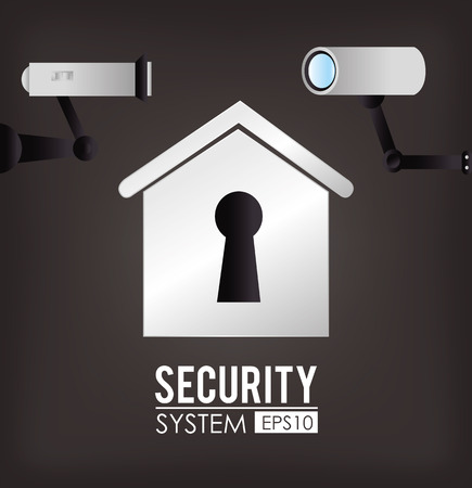 symbol vigilance: Security design over gray background, vector illustration. Illustration