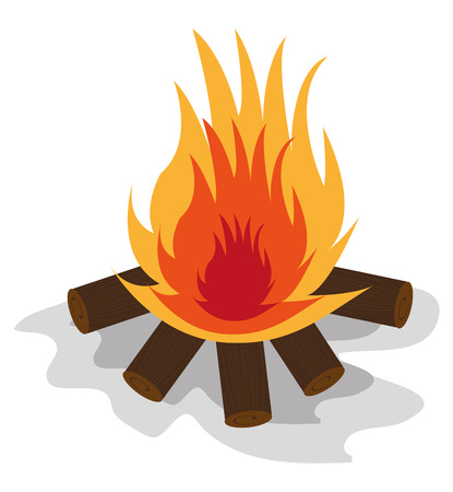 fire safety: Camping design over white background, vector illustration. Illustration