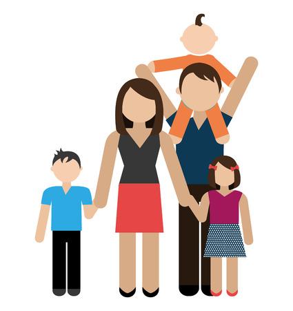 daugther: Family design over white background, vector illustration. Illustration