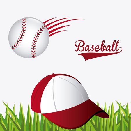baseball cap: Sport design over white background, vector illustration.