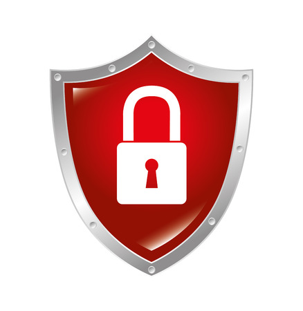 safe guard: Security design over white background, vector illustration.