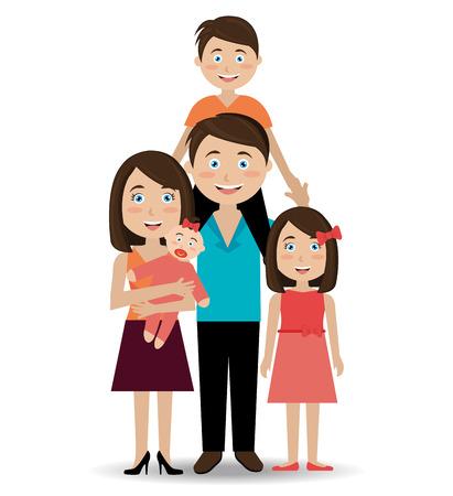 Family design over white background, vector illustration. Illustration