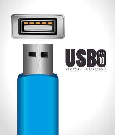 USB design over white background, vector illustration.