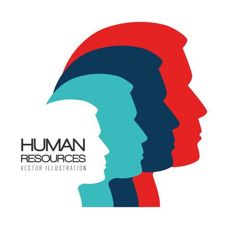 Human resources op een witte achtergrond, vector illustratie. Stock Illustratie