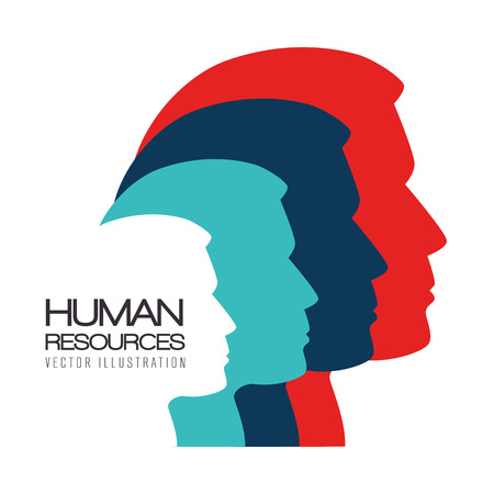 Human resources over white background, vector illustration. Reklamní fotografie - 37830164
