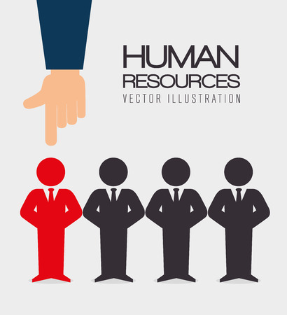Human resources over white background, vector illustration. Stock Vector - 37830169