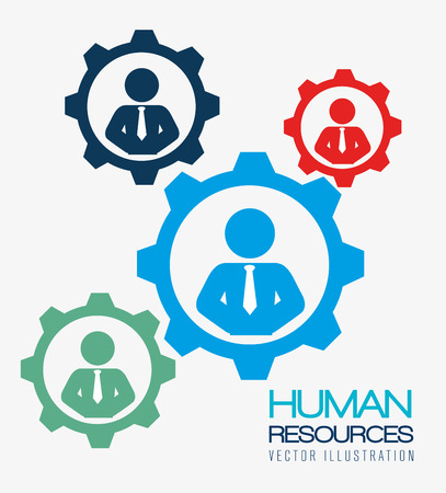 partnership: Human resources over white background, vector illustration.
