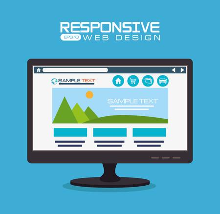 responsive: Responsive web design, vector illustration.