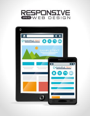 responsive design: Responsive web design, vector illustration.