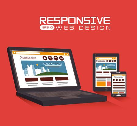 responsive web design: Responsive web design, vector illustration.