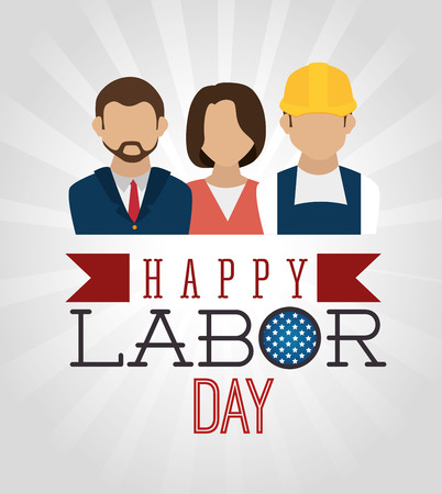 Labor day card design, vector illustration. Illustration