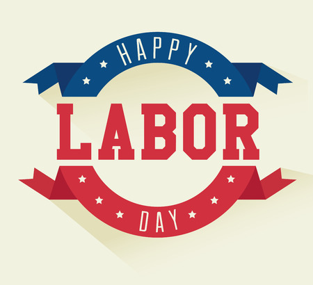 Labor day card design, vector illustration. Ilustração